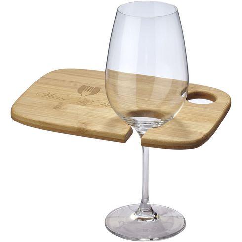 Miller wooden appetiser board with wine glass holder