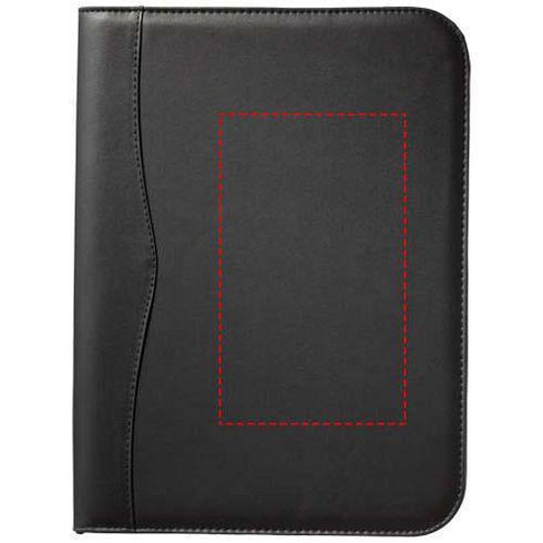Ebony A4 zippered portfolio