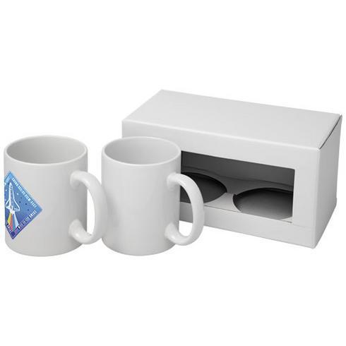 Ceramic sublimation mug 2-pieces gift set