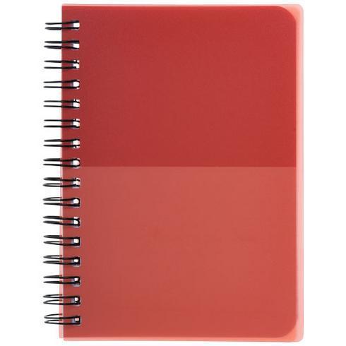 Colour-block A6 spiral notebook